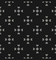 seamless texture geometric monochrome pattern vector image vector image