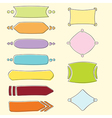 set banners and frames vector image
