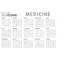 Set line icons medicine