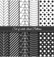 Set of black white Pattern3 vector image vector image