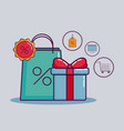 shopping and discount design vector image vector image