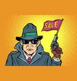 spy secret agent start sales vector image