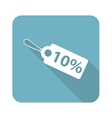 Square discount icon vector image vector image