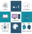 Stock Linear icon school lessons vector image vector image