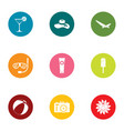 tourist photo icons set flat style vector image vector image