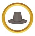 Traditional korean hat icon vector image vector image