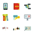 Translation icons set flat style vector image vector image