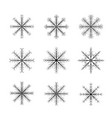 various winter snowflakes set christmas decoration vector image
