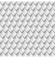 White dragon scales seamless background texture vector image vector image