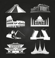 white silhouettes famous landmarks vector image vector image