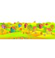 Horizontal autumn banner vector image