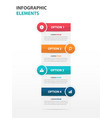 colorful text box business infographics elements vector image