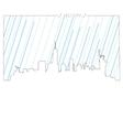 Isolated skyline of New york vector image
