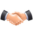 3d handshake icon isolated on white vector image vector image