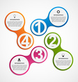 Abstract business options infographics template vector image vector image