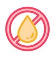 allergen free trans fat thin line icon vector image vector image