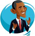 barack obama caricature vector image vector image