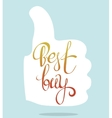 best buy lettering vector image