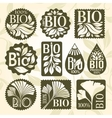 Bio product Set of labels and stikers vector image vector image