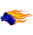 brachiosaurus with flame vector image vector image