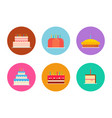 cakes and pies set vector image