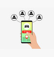 carsharing carpooling service concept vector image