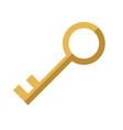 cartoon key protection lock banking concept vector image