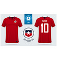 chile soccer jersey or football kit mockup vector image vector image