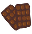 chocolate bar or color vector image
