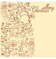 christmas decorative collection merry vector image vector image