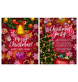 christmas lights garland sketch greeting vector image