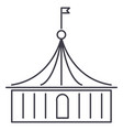 circus line icon sign on vector image vector image