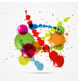 Colorful Splashes Abstract Background vector image