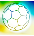 Contour watercolor soccer ball vector image