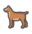 dog brown fluffy pet icon cartoon vector image