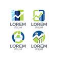 economy logo set vector image
