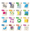 File format icons set cartoon style vector image vector image