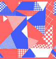 geometric abstract triangle collage seamless vector image