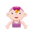 Girl cartoon icon Baby concept graphic vector image