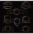 gold contour labels vector image