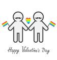 Happy Valentines Day Love card Gay marriage Pride vector image vector image