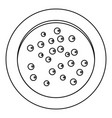 heap of pepper peppercorns on a plate icon vector image vector image