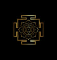 hinduism bhuvaneshwari yantra sacred geometry gold vector image vector image