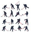 hockey two colored set 01 vector image vector image