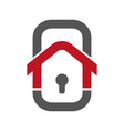 home security logo template vector image