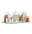 india landmarks vector image