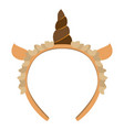 isolated headband icon with a sheep horn vector image