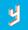 isometric letter y vector image vector image