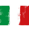 italy colorful brush strokes painted flag vector image vector image