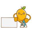 kawaii smiling mango fruit with sneakers cartoon vector image